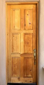 care for exterior wood doors