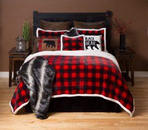 cozy, christmas bedroom